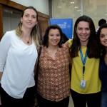 Nathalie Smith, da Stella Barros, Jaqueline Rodrigues, da MGM, Sonaira Zanella, da Aerolíneas Argentinas, e Larissa Sousa, da TGK