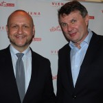 Norbert Kettner, CEO do Vienna Tourism Board, e Burkhard Kieker, do visitBerlin