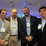 Otávio Leite, deputado federal, Michael Nagy e Eric Boulanger, do Rio CVB, e Liberato Pinto, da Neltur