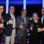 Rafael Menna, Ricardo Pompeu, Mário Albuquerque, Emiria e Roberto Bertino, da Nobile