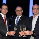 Rafael Menna, VP, Roberto Bertino, presidente, e Ricardo Pompeu, diretor Sênior de Vendas e Marketing da Nobile Hotéis