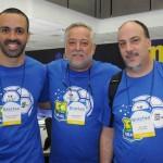Raphel Magalhães, Michael Barkoczy e Ary Xavier, da Flytour MMT