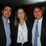 Renato Pezzino, da GRV RJ, Raquel Siqueira, da Nobile Express, e Marcelo Monteiro, da Red Roof