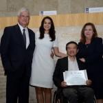 Ricardo Shimosakai, Diretor da Turismo Adaptado, com David Barioni, da SPTURIS, Adriana Ramalho e Silva Rubino