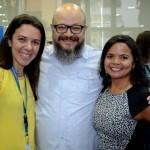 Sonaira Zanella, da Aerolíneas Argentinas, Marcio Américo Oliveira e Silvana Oliveira, da Agaxtur