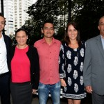 Vinicius Pereira, da GVA, Natacha Servina, Don Julie e David Germain, do Turismo de Seychelles