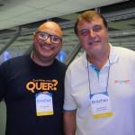 Willian Santos, da CVC, e Alexandre Dias, da Turnet Turismo
