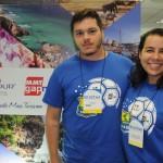 Ygor Paixão, da Flytour e Vanessa Oliveira, da Flytour MMT