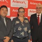 Afrânio Mar, da Infraero, Carla Rezende, da Setur-ES, e Tarcísio Gargioni, da Avianca
