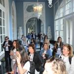 Agentes na chegada ao Palácio Quitandinha