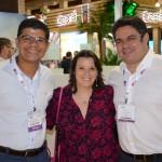 Alex Andrade e Rodrigo Lins, do Nannai Resort, e Jaqueline Rodrigues, da MGM