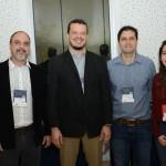 Alexandre Perota e Fabio Maycon Ferreira, da Alfatec Cozinhas, Rodrigo Amadio e Mariana dos Santos, da RAP
