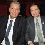 Alexandre Sampaio, da FBHA, e Alain Baldacci, do Sindepat