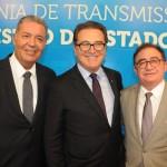 Alexandre Sampaio, do FBHA, Vinicius Lummertz, ministro do Turismo, e Manoel Linhares, da ABIH