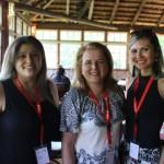 Ana Rita de Souza, da Art Travel, Claudia Kein, da Plano Viagem, e Michele Serra, da Creacteve