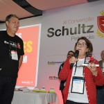 Aroldo Schultz, presidente da Schultz, ao lado da Daleth Bezerra, da Dale Turismo