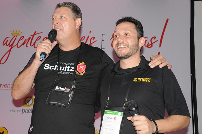 Aroldo Schultz, presidente da Schultz, e Cauê Castro, de Fort Lauderdale CVB