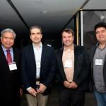 Art Trevino, da Amadeus, Marcius Moreno, Mauricio Pascalichio, e Rafael Takahashi, da Avianca Brasil