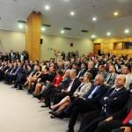 Auditório do MTur lotado durante cerimônia de transição de cargo