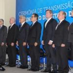Autoridades que participaram da cerimônia de transição de cargo do MTur