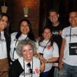 Bianca Campos, da RNB Viagens, Jaqueline Campos, da JLE Turismo, Iza Souza, Ana Paula Santo, da Abaete, Aroldo Schultz, da Schultz, e Marcos Reis