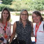Carolina Bach, do Diário de Bordo, Maricha Kryvoruchka, da Trip & Travel Viagens e Intercâmbios, e Christina Binnie da Swiss Air Lines