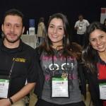 Cauê Castro, de Fort Lauderdale, Jessica Silva, do Hard Rock Hotéis, e Aline Sobreira, da BD Travel
