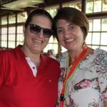 Christiane Ziemer, da Swiss Air Lines, e Vanda Catão, do Turismo de Titlis e Lucerna