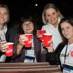 Cintia Duso, da Cintia Duso Mei, Terezinha Haas, da Zeppelin, Marialice Schafer, da Schafer Turismo, e Karen Silva, da Trip Now