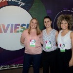 Cintia Saldanha, da Atlantis Paradise, Juanita Gomez, da TM Latin America, e Raquel Queiroz, do Sandals