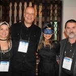 Claudia Tavares e Alexandre Fernandes, da Tilli Viagens, Amanda Amorin, da Eduardo Souza Viagens, e Atayde Gonçalves, da Patreze Viagens