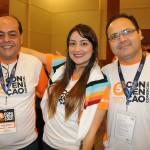 Claudio Gebenlian (SP), Karol Braga(MG) e Rudney Caria, de Campinas
