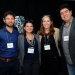 Cyril Fernet, Arenda Oliveira, Victor Huertas, da Amadeus, e Rafael Takahashi, da Avianca Brasil