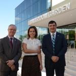 José Ozanir, diretor regional, Adriana Cardoso, diretora de Marketing e Produtos, e Jefferson Munhoz, diretor de Vendas da Bourbon