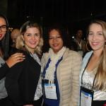 Dayane Marques, da Marite Turismo, Cristiane da Rosa, Maria Martins, da Choice Tur, e Dayane Rosa, da Marite Turismo