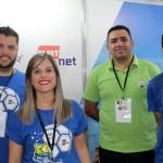 Deborah Rotehn e Julio Schultz da Flytour com Carlos e Diego Alves do Porto do Sol