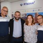 Denis Espinoza, Leandro Roberto, Adriana Dezanetti, e Thiago Benatti, da Visual Turismo