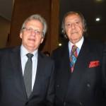 Edmar Bull, da Copastur, e Michel Tuma Ness, presidente da Fenactur