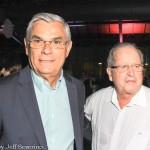 Eduardo Pinho Moreira, governador de SC, e Fernando Marcondes de Matos, do Costão do Santinho