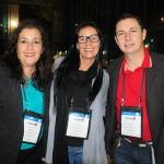 Elisabete Cerveira, da Icaro, Fabiana Gabardo, da Departur Viagens, e Cedenir Saraiva, da CCS Viagens