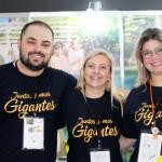 Fabrício da Costa Vinci com Vivian Lima e Luciana Zardo, do Rio Quente Resorts