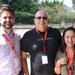 Felipe Dias, da Master Turismo, Alexandre Camara, da ASC, e Elisabeth Saboia, da BSV Turismo