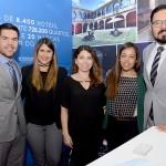 Felipe Novais, Daniela Luna, Ana Rosa, Ana Lucia Lacerda e Hugo Rivera, da Wyndham Hotel