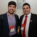 Felipe Novais, da Wyndham, e Ricardo Bertino, do Nobile Hotéis