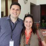 Fernando Aquino, do Turismo de Interlaken e Jungfrau, e Elizabeth Saboia, da BSV Turismo