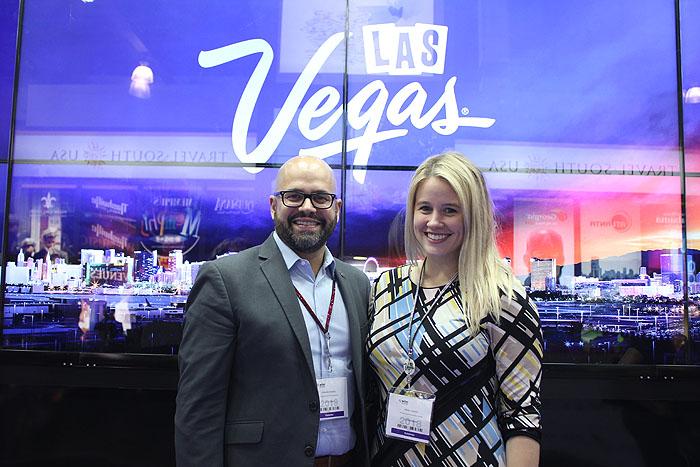 Fernando Hurtado e Molly Castaño, do Las Vegas CVB