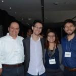 Fernando Thomaz, Fabio Sterpeloni, Arenda Oliveira, e Cyril Fernet, da Amadeus
