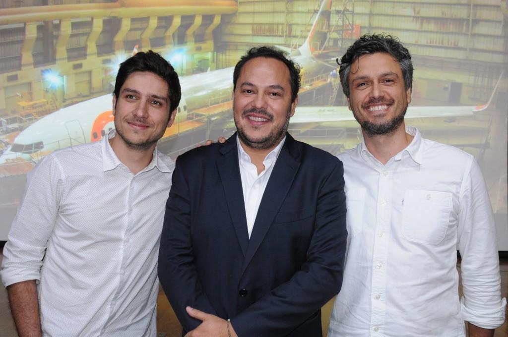 German Carmona, da Gol, com Fernando Duarte e Henrique Del Lama, da AlmapBBDO