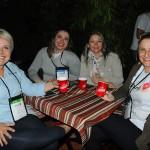 Gerusa Pastuch, da Europamundo, Adriana Spiess, da Mega Agência, Silvania Moretto, da Gran Tour, e Joseani Anesi, da Dijo S