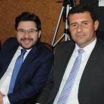 Gilson Lira, da Embratur, e Tufi Michreff, assessor parlamentar do deputado Mauro Mariani